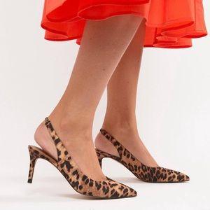 ASOS Leopard Slingback shoes